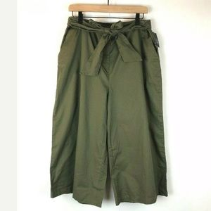 Mossimo Belted Wide Leg Pants XL Capri Green